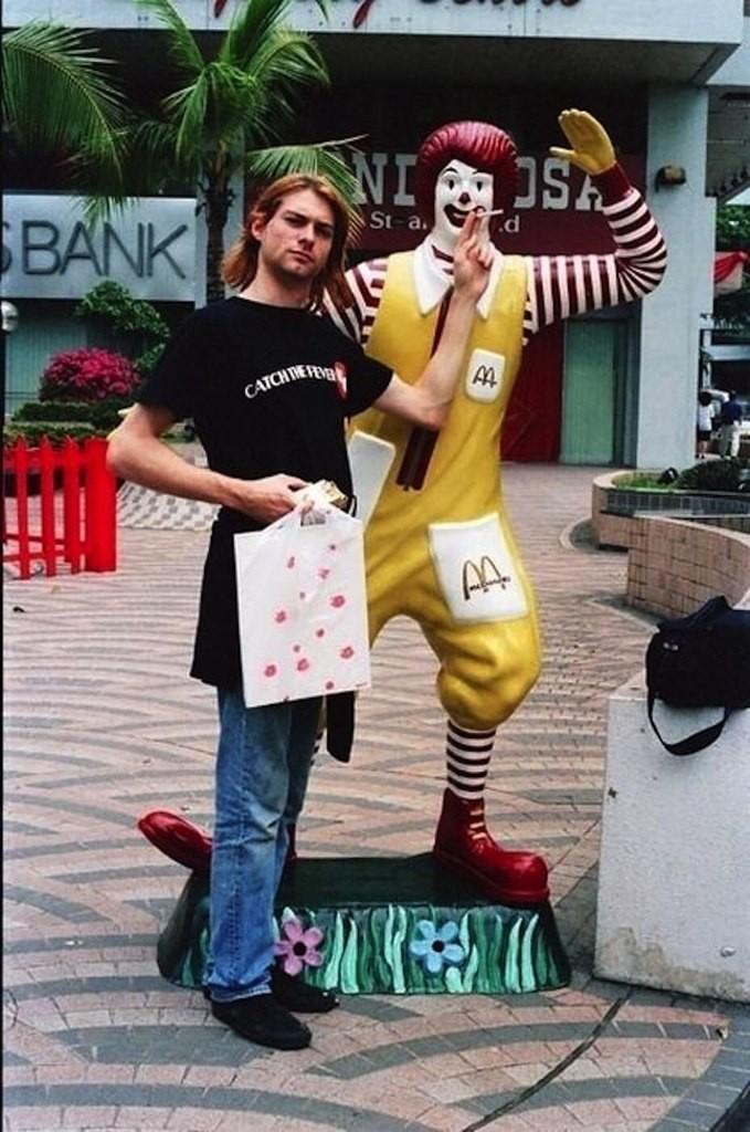 Курт Кобейн и Рональд Макдональд, 1992 г интересно, история, фото
