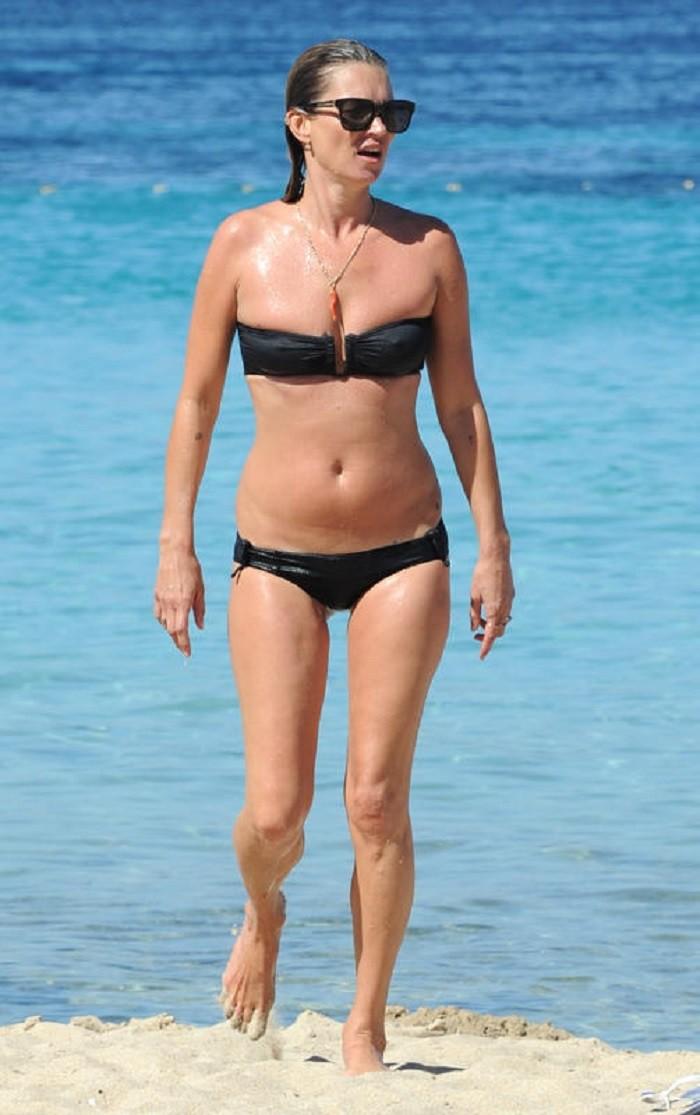 Кейт Мосс купальник, пляж, фигура
