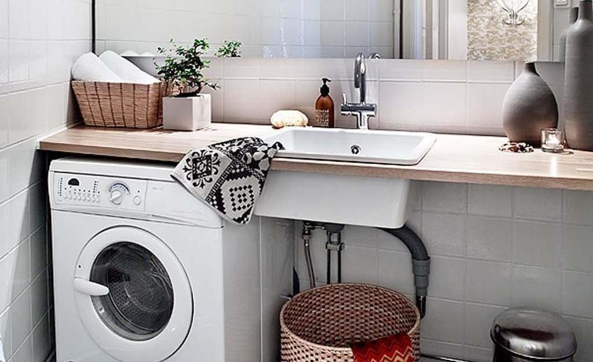 Заниматься сексом на стиральной машине в ванной комнате