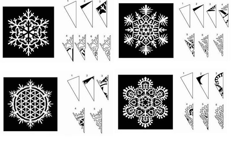 Снежинка из бумаги шаблоны для вырезания скачать