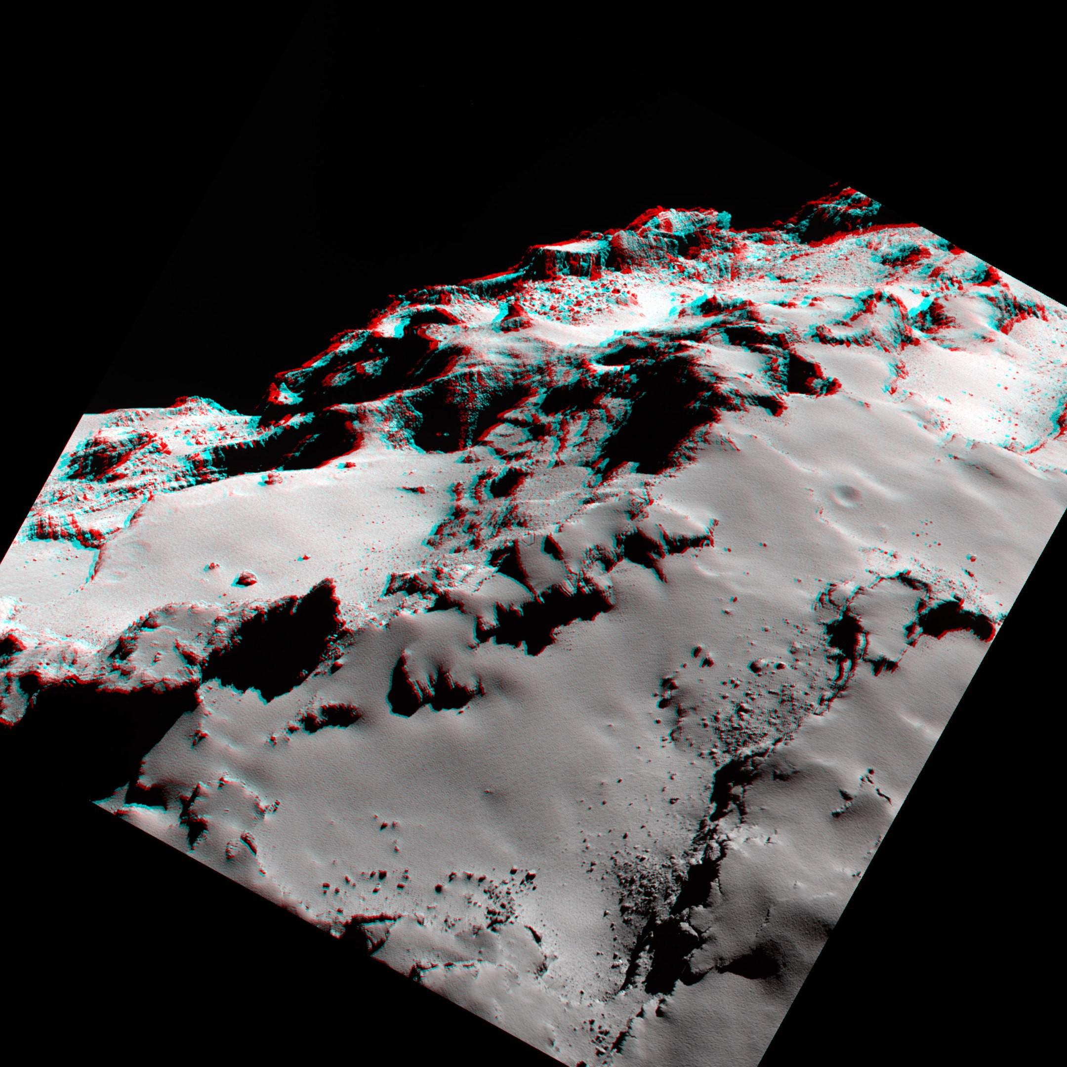 Цветное фото кометы герасименко