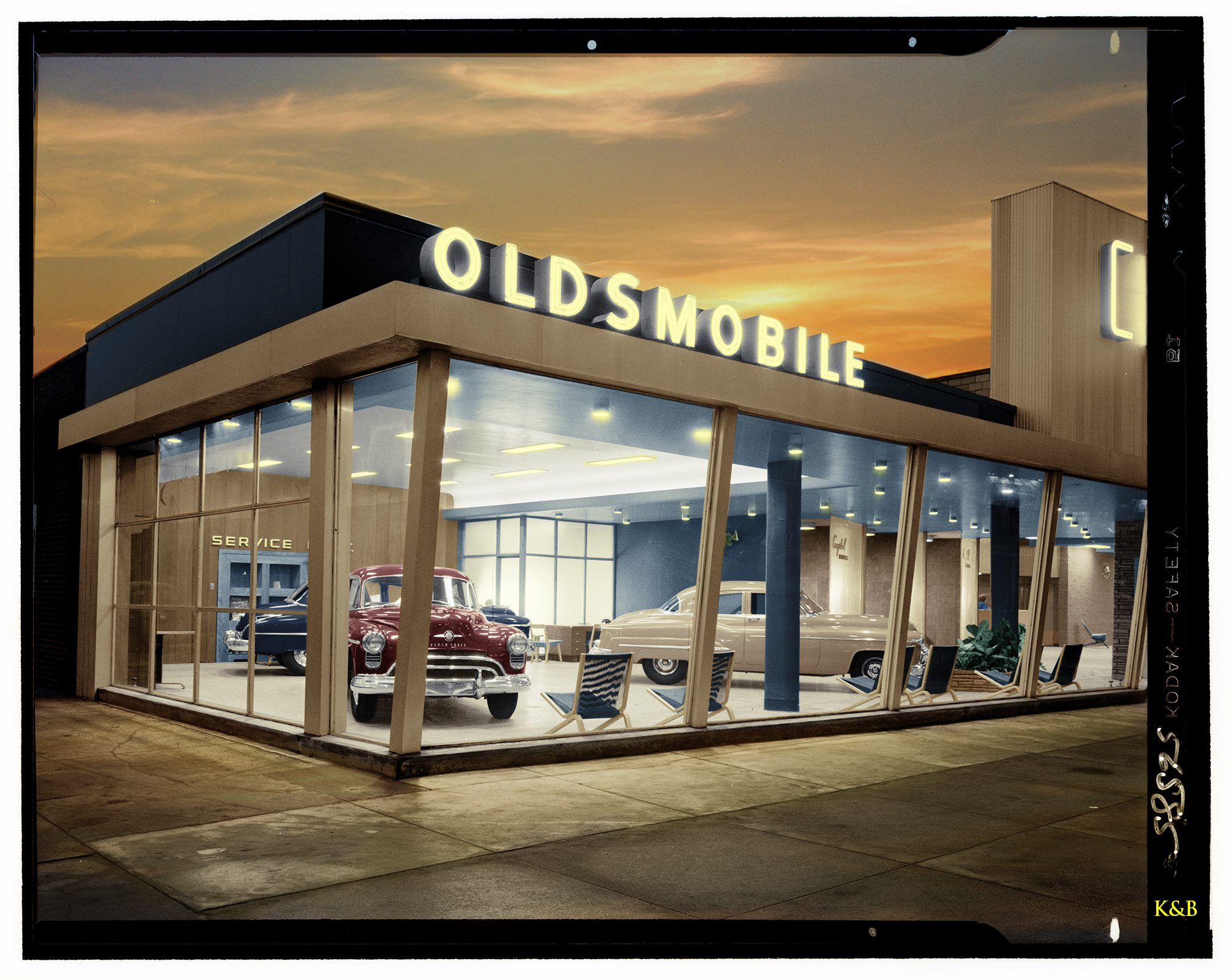 Oldsmobile Dealership, 1950, Brooklyn, NY ретро автомобили, ретро фото, фотографии