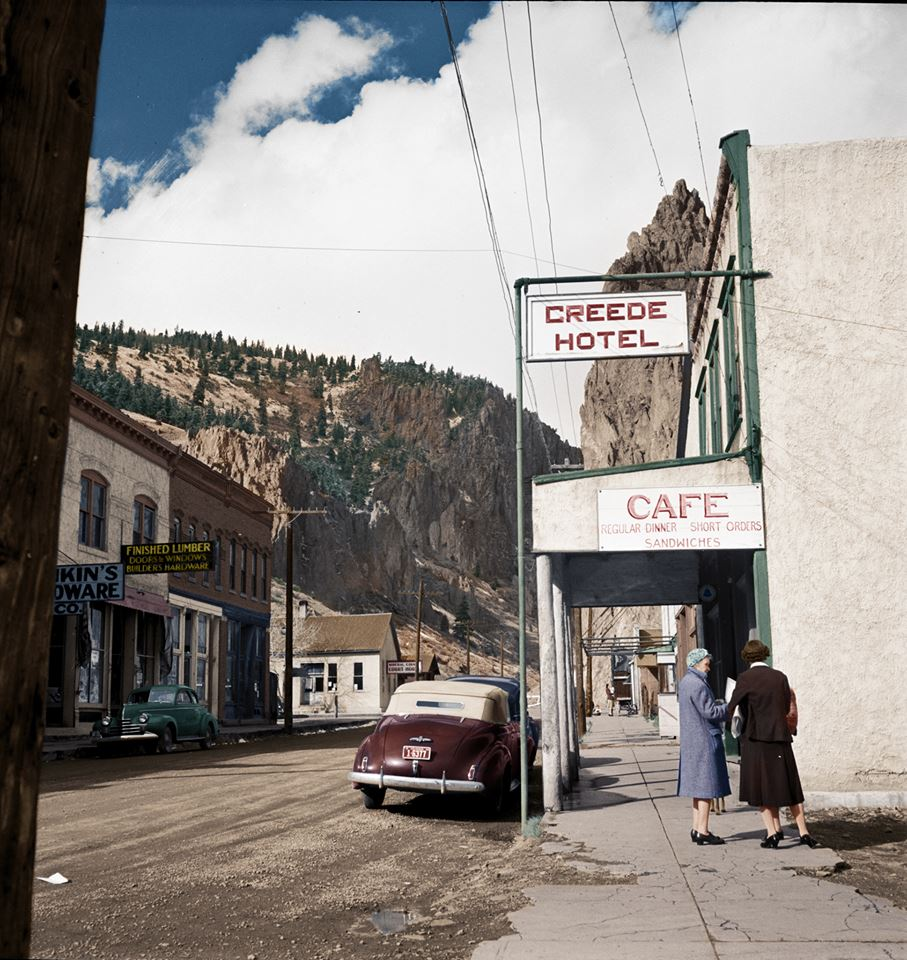 Creede, Colorado, 1942 ретро автомобили, ретро фото, фотографии