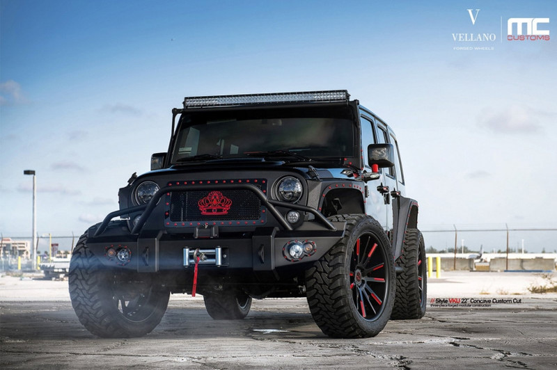 6. Jeep Wrangler от Vellano Wrangler, jeep, авто, внедорожники, джип, тюнинг