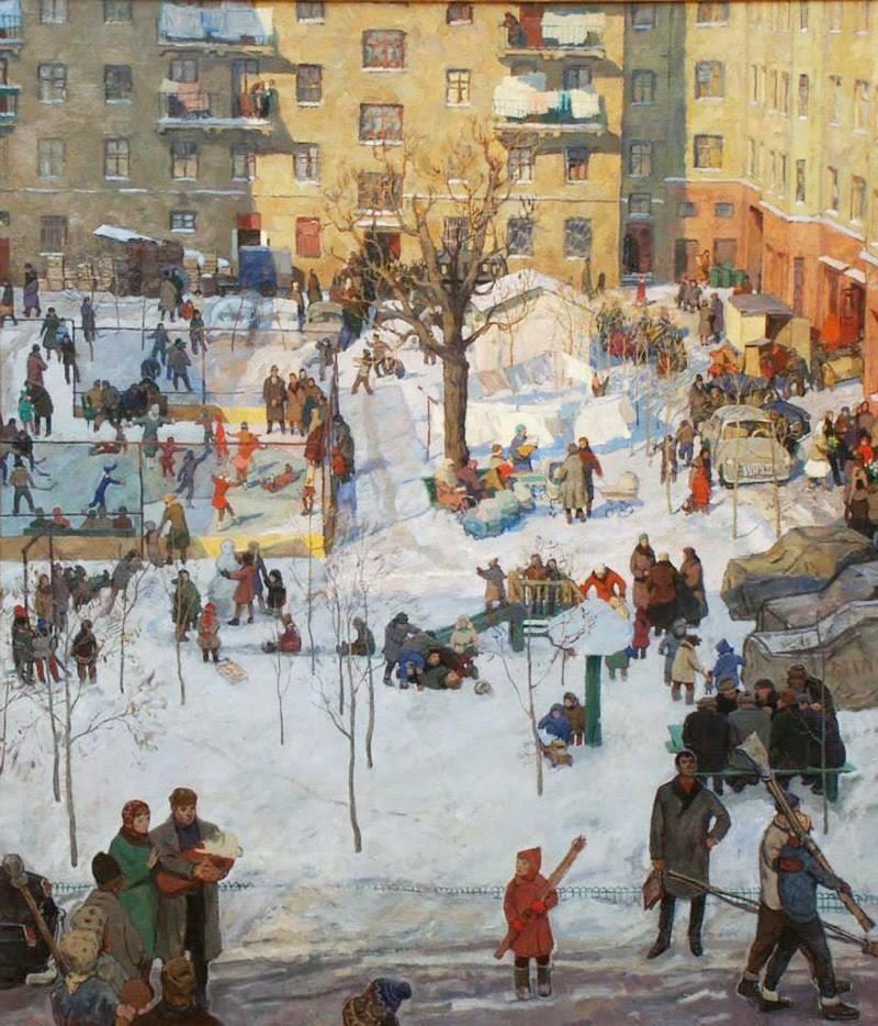 Игорь Попов, «Наш двор», 1964 новый год, художник