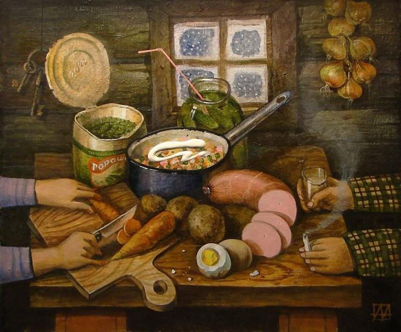 Андрей Андрианов, «Провансаль», 2012 новый год, художник