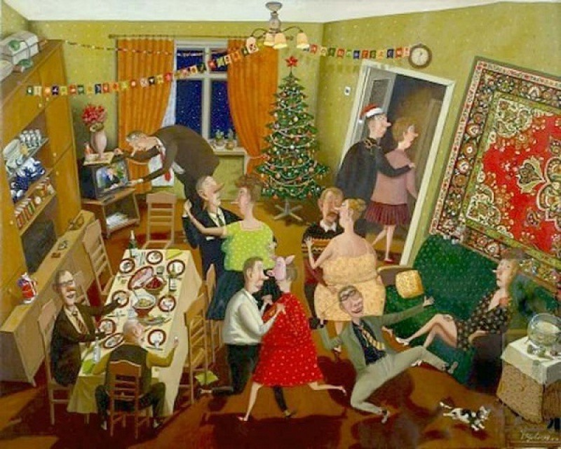 Валентин Губарев, «Новый год» новый год, художник