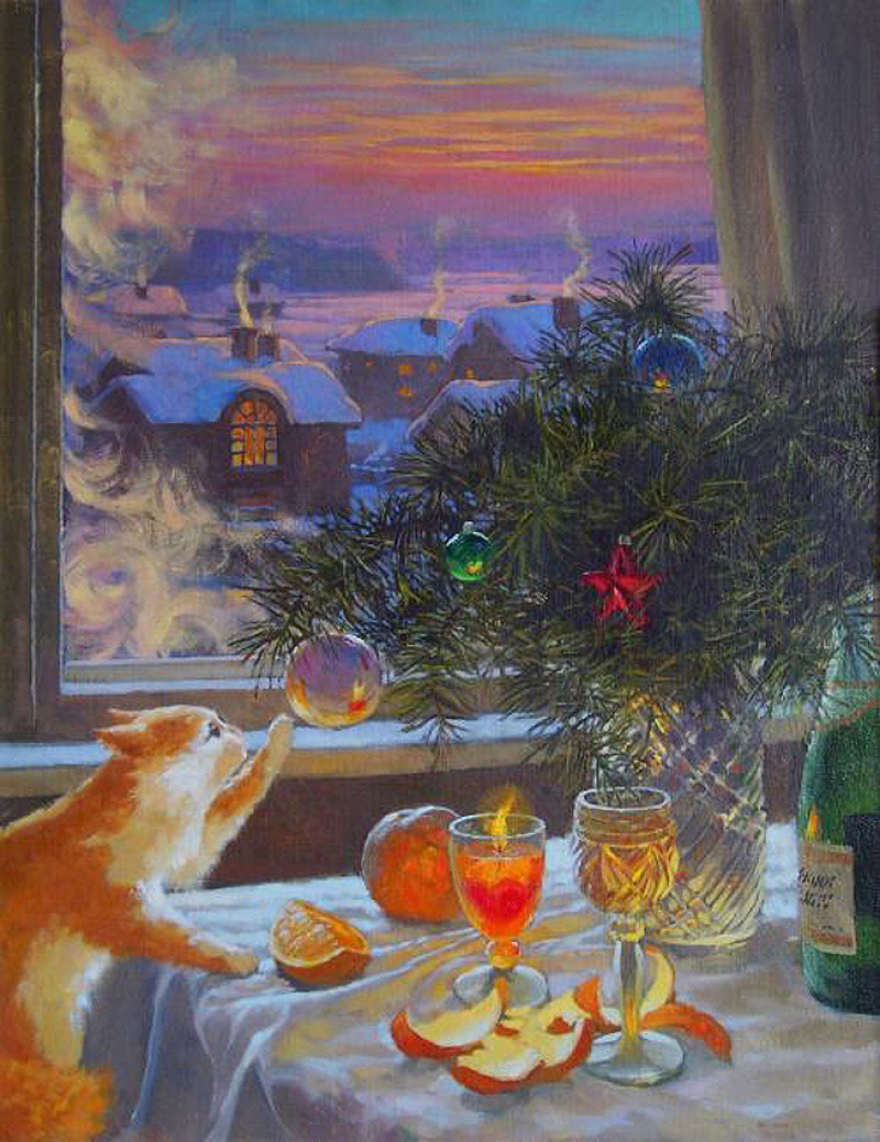 Александр Мохов, «31 декабря», 2005 новый год, художник
