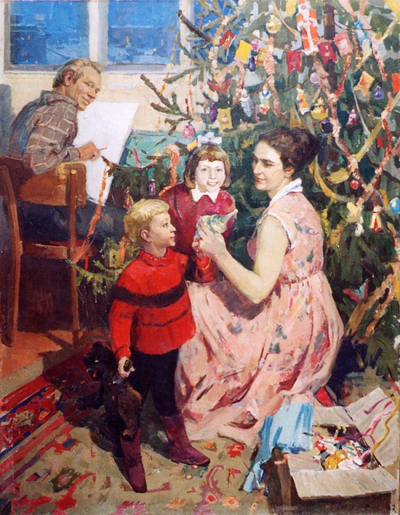 Александр Гуляев, «Новый год», 1967 новый год, художник