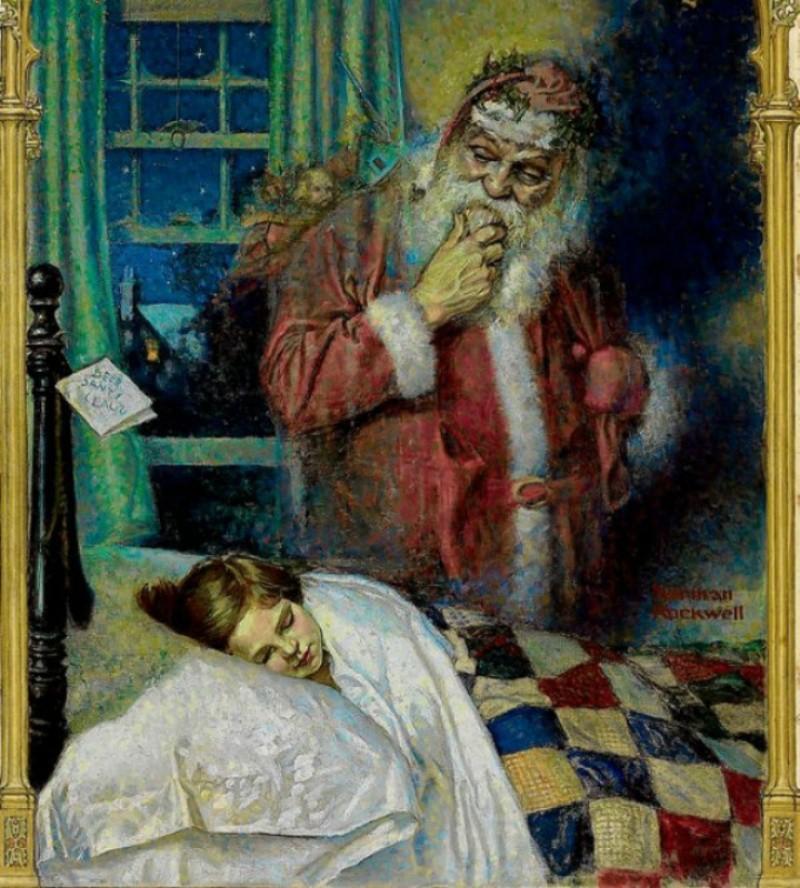 Норман Роквелл, «Санта Клаус», 1921 новый год, художник