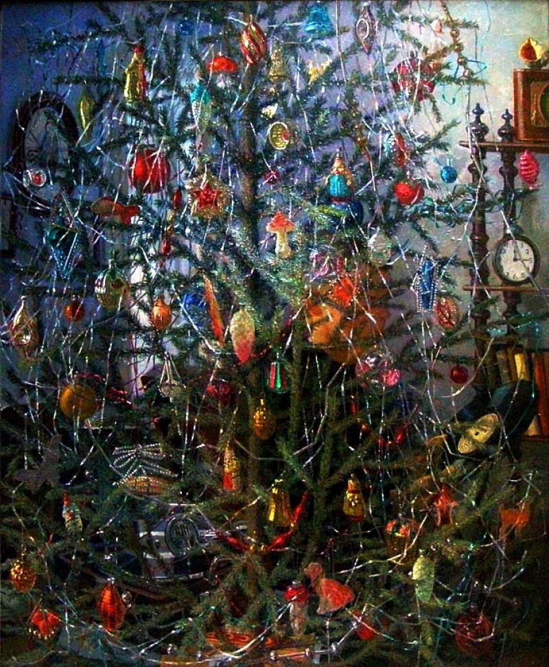 Александр Дудин, «Елка», 1953 новый год, художник