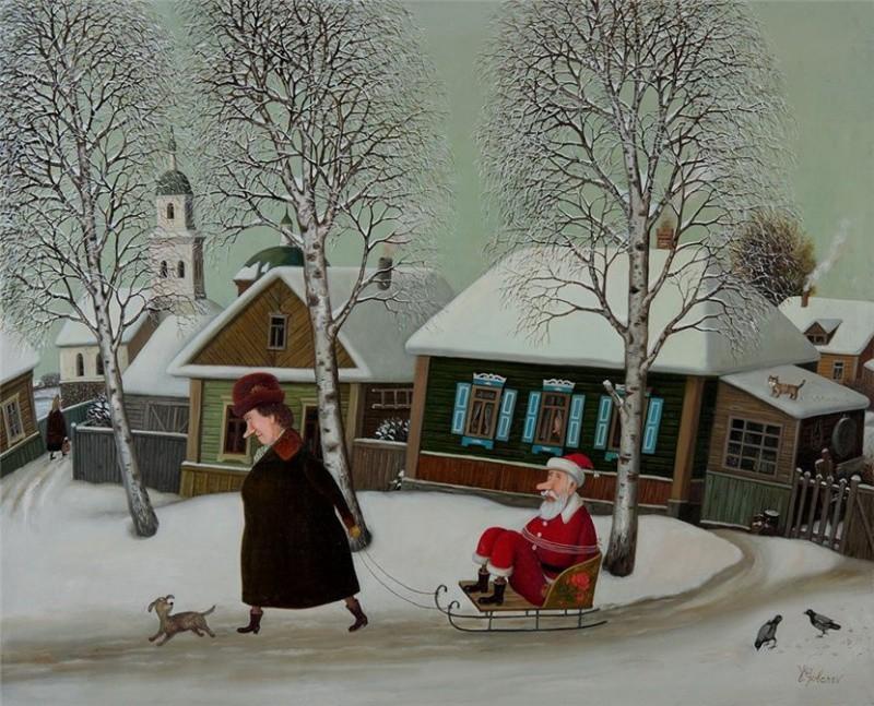 Валентин Губарев, «Новогоднее» новый год, художник