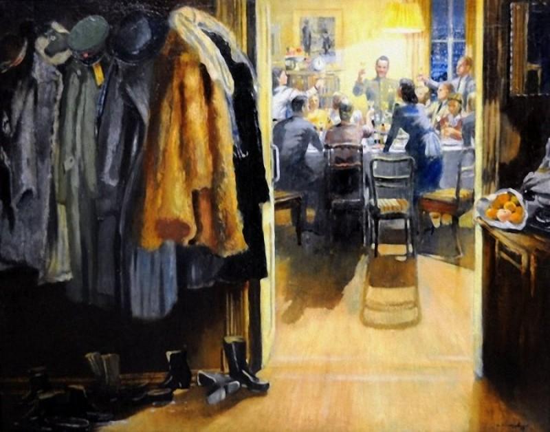 Юрий Пименов, «Новый год», 1949 новый год, художник