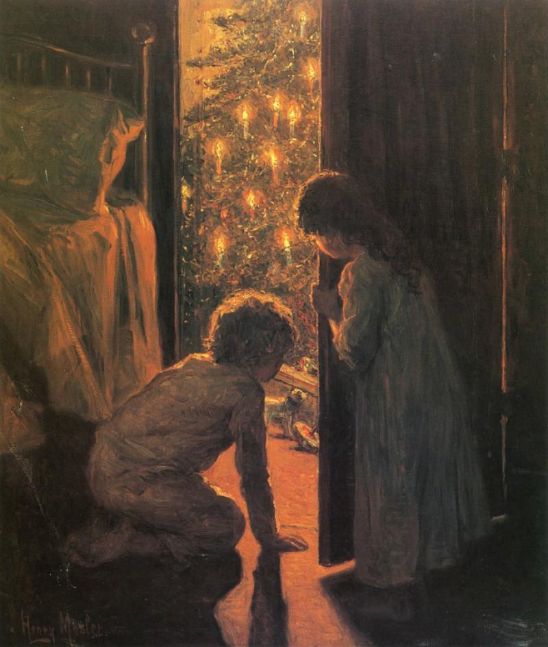 Генри Мослер, «Рождественское утро», 1916 новый год, художник