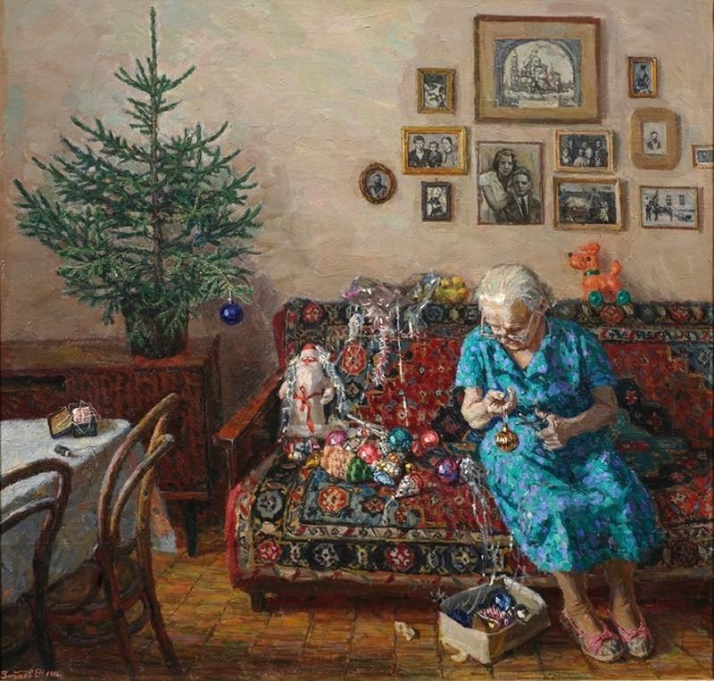 Егор Зайцев, «Рождественская елка», 1996 новый год, художник
