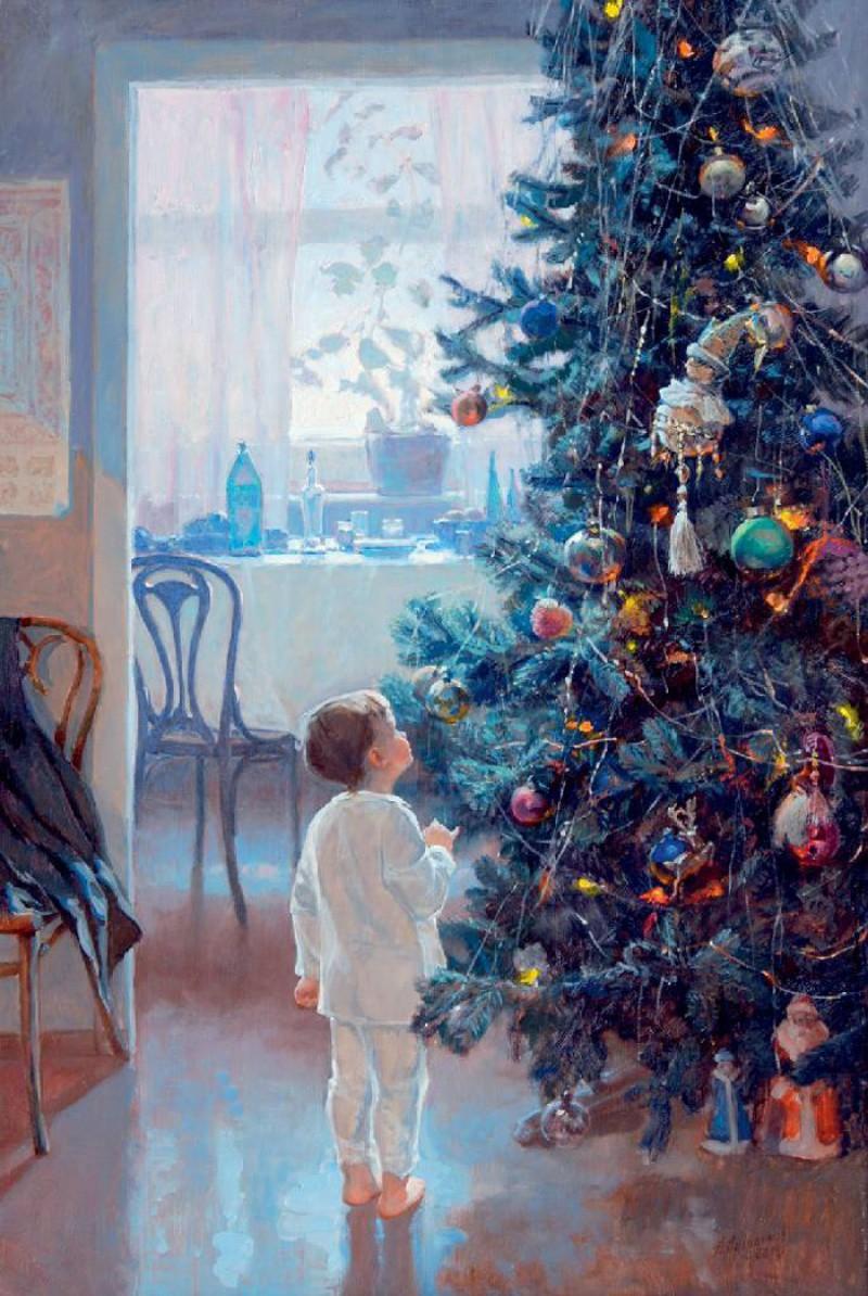 Александр Левченков, «Утро Нового года» новый год, художник