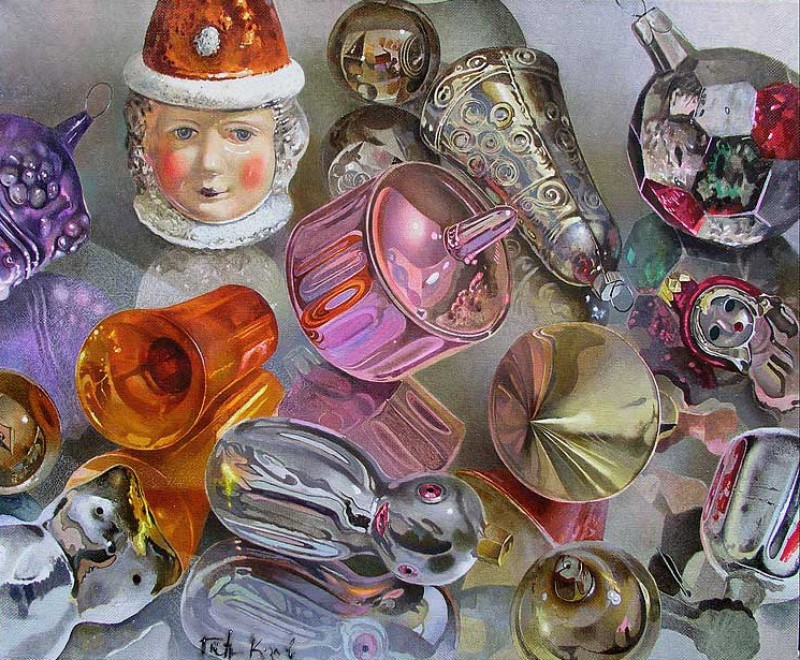 Петр Козлов, «Старые игрушки» новый год, художник