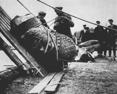 Снос памятника Александру III, 1918 год интересно, история, фото