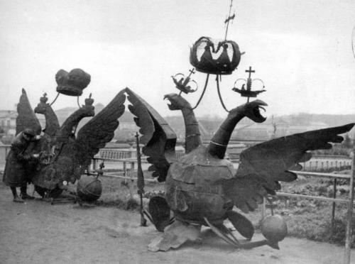 Снятые с Кремля орлы, 1935 год интересно, история, фото