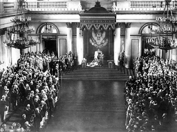 Выступление Николая II перед депутатами государственной думы, 1906 год интересно, история, фото
