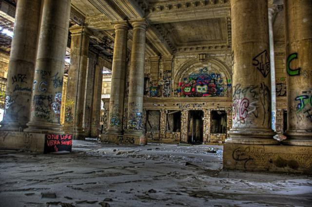 13.  Michigan Central Station, вокзал, железная дорога, заброшенные места
