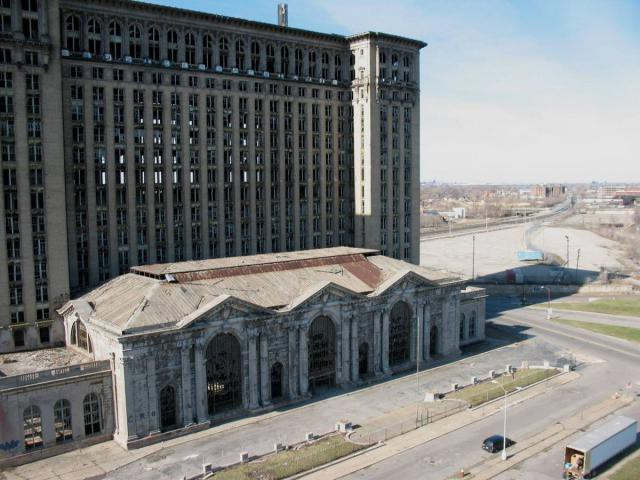 32.  Michigan Central Station, вокзал, железная дорога, заброшенные места
