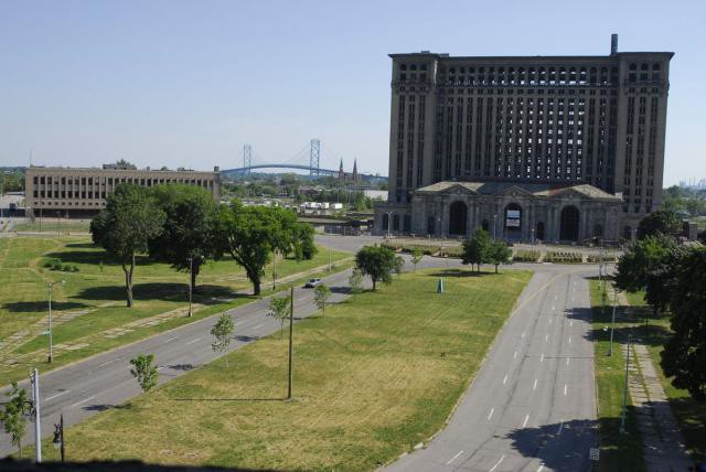 21.  Michigan Central Station, вокзал, железная дорога, заброшенные места