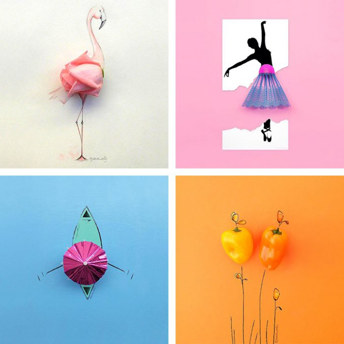 Веселые иллюстрации с повседневными предметами иллюстрации, предмет