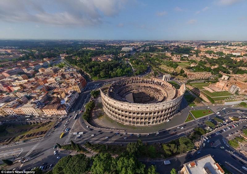 Колизей - в прошлом гладиаторская арена, ныне исторический памятник беспилотники, достопримечательности, дроны, фото