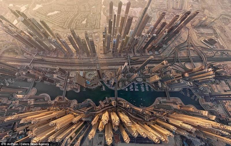 С этого ракурса Дубай выглядит как город из фантастического фильма беспилотники, достопримечательности, дроны, фото