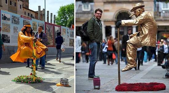 """Всегда хотели узнать секрет левитации """"факиров"""" с посохами в туристических центрах? Он раскрыт! разоблачения, трюки, уличные артисты, фокусы"""