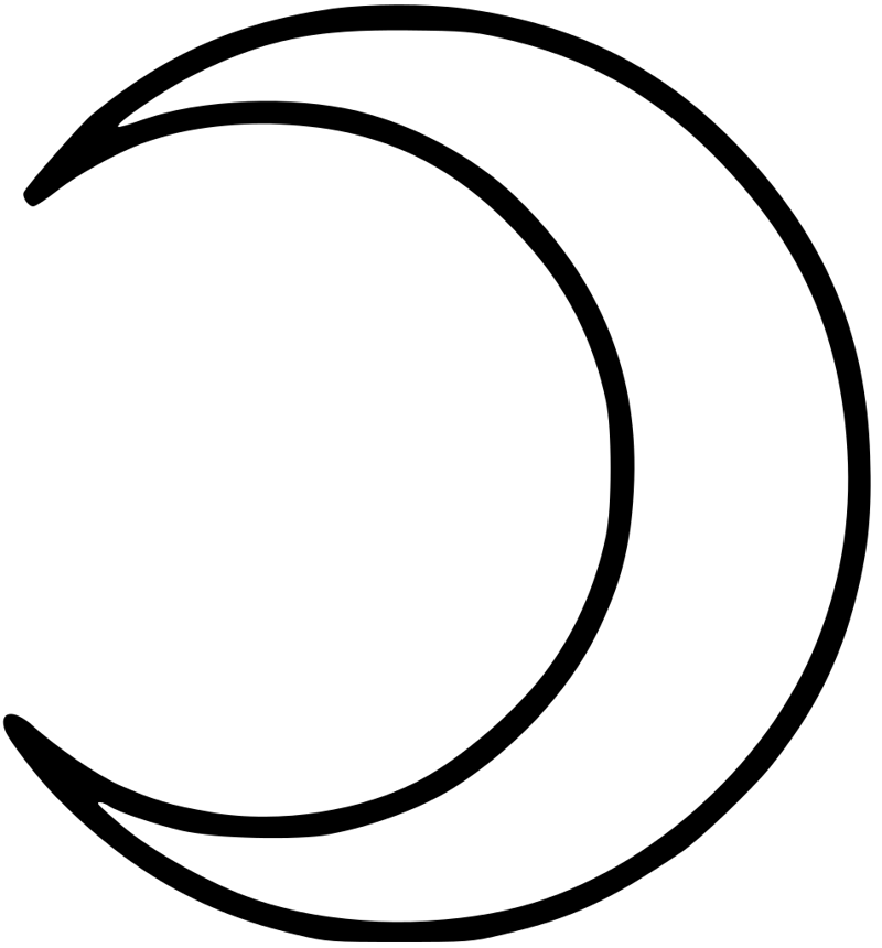 символ луна рисунок