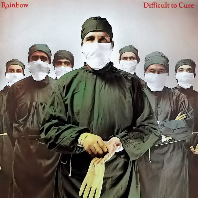 "Rainbow ""Difficult to Cure"" coverart, music, прикол"