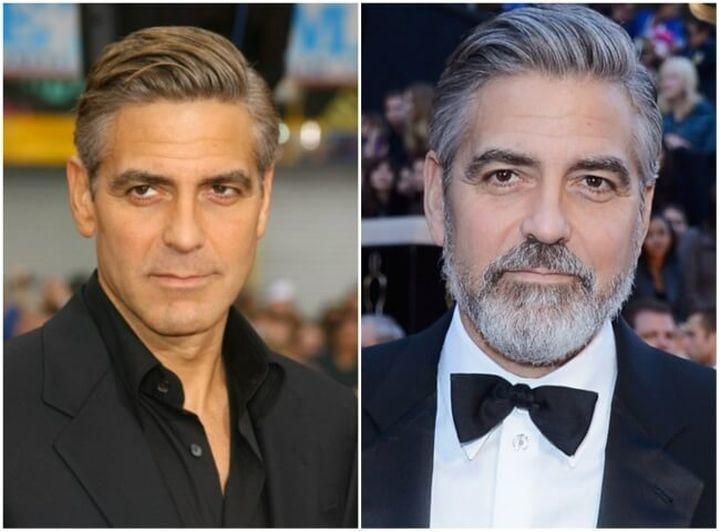 14.  Джордж Клуни борода, было стало, мужчины
