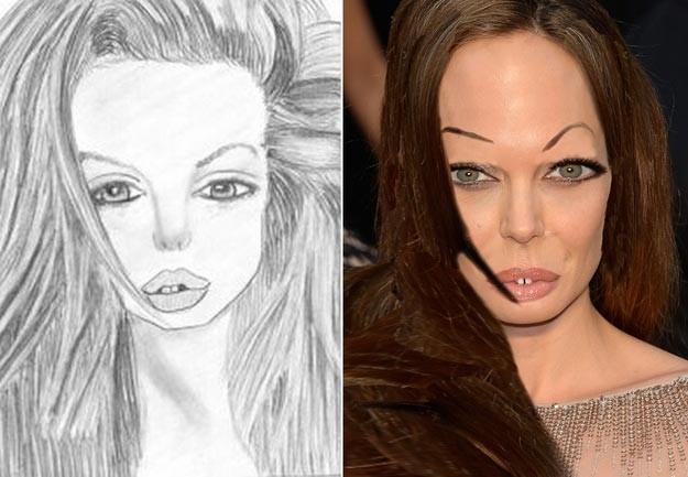 2. Анджелина Джоли    fan, рисунок