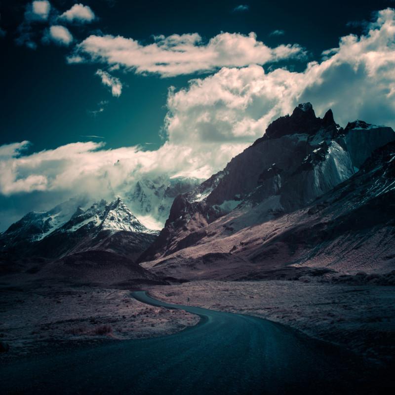 Дорога к Торрес, Патагония, Чили. горы, пейзаж, фотография