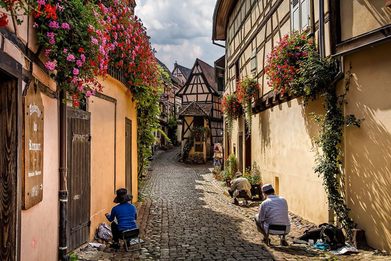 Эгисхайм, Франция. древня, путешествие