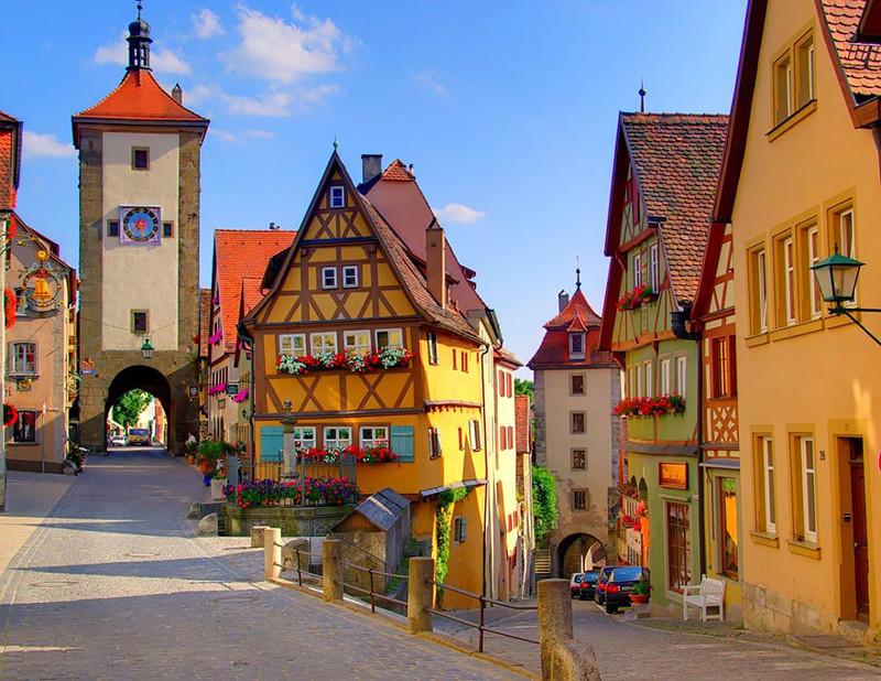 Ротенбург, Германия. древня, путешествие