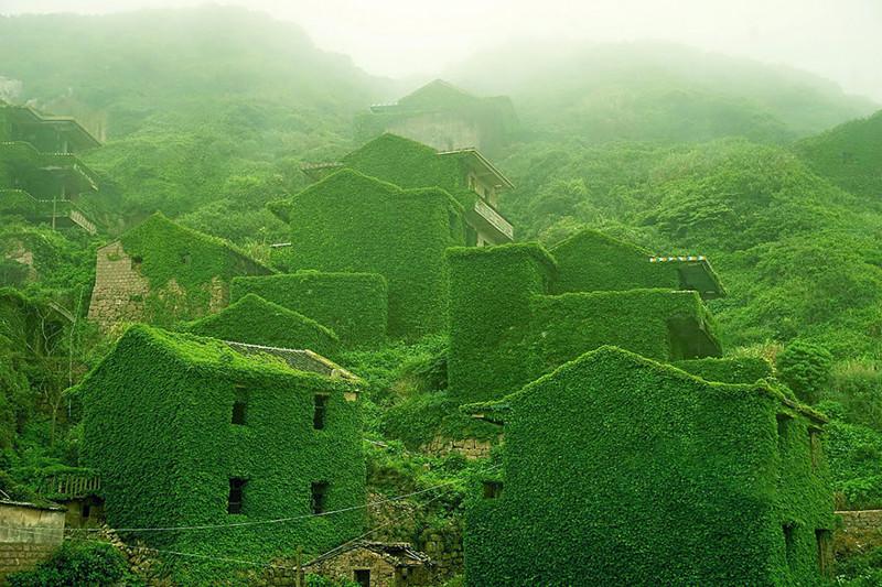Заброшенная рыбацкая деревня, Китай. древня, путешествие