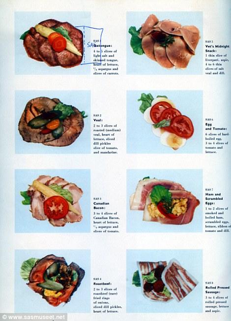Скандинавские авиалинии в 60-х крайне серьезно относились к сендвичам. Такие виды можно было заказать во время полета... еда, самолет