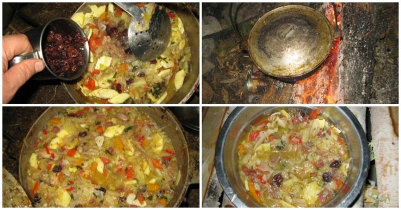 Рецепты блюд в турпоходах
