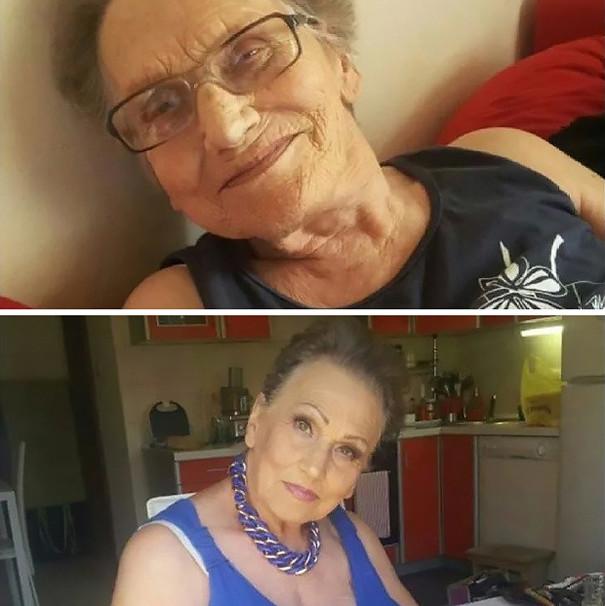 Старая бабушка с любовником смотреть
