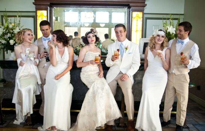 Великий Гэтсби Свадебное оформление, жених и невеста, свадебная церемония, свадьба, тематическая