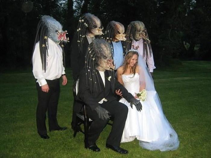 Хищник Свадебное оформление, жених и невеста, свадебная церемония, свадьба, тематическая