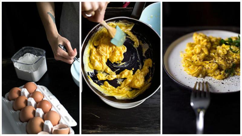 16. Если готовите взбитые яйца, добавьте немного кукурузного крахмала - блюдо получится пышным, а вкус - нежным кулинария, повар от бога, приготовление еды, секреты, хитрости на кухне.