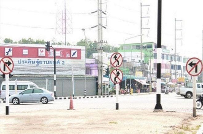 18. Похоже, работников местного автодора вдохновил Сусанин люди, таиланд, юмор