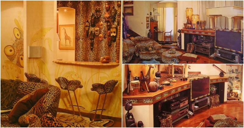 Леопардовая квартира Валерия Леонтьева вкусы, вычурно, звезды, квартиры