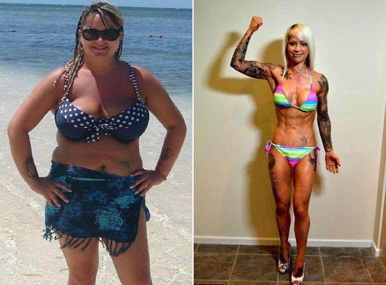 1. - 38 кг похудение, результат