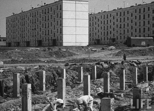 """Как строили """"хрущевки"""" в 1963 году СССР, история, факты"""