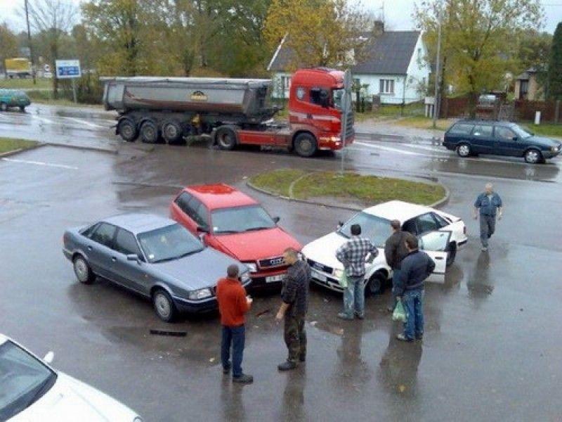 Съезд любителей Audi. аварии, автомобили, водители, прикол, юмор